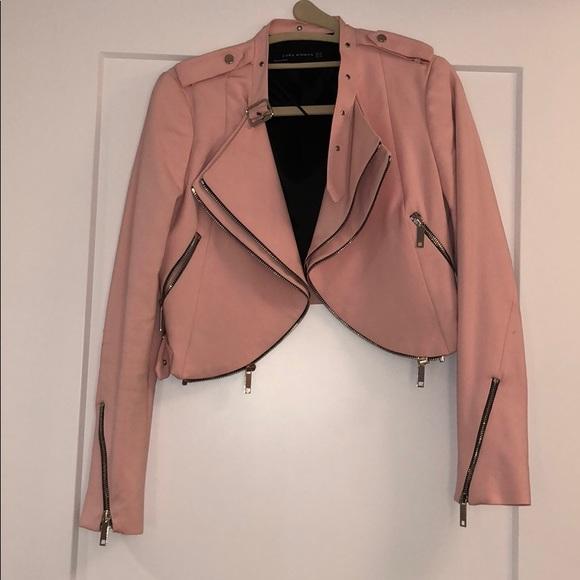 4fb4f764 Zara pink crop jacket w/zipper detail sz XS. M_5a6d02e7fcdc318c11c994d4